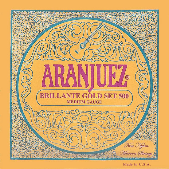Aranjuez 500G Brilliante Gold Konzertgitarre, medium