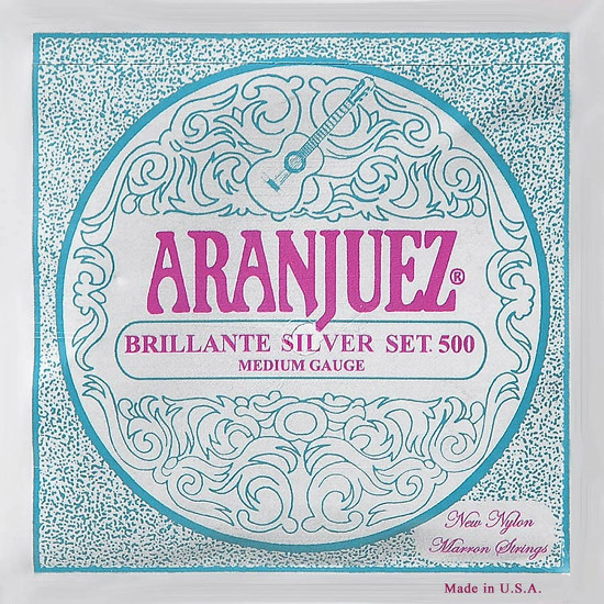 Aranjuez 500S Brilliante Silver Konzertgitarre, medium