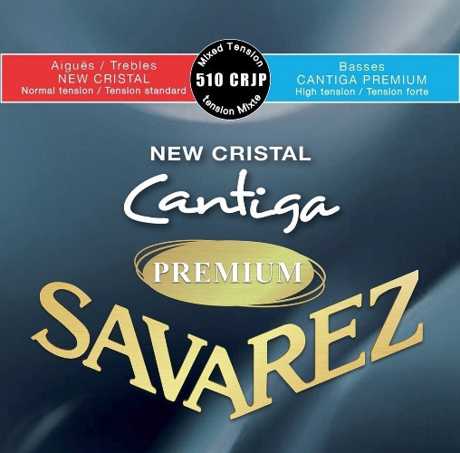 Savarez 510 CRJP New Cristal Cantiga Premium Konzertgitarre, normal/high tension