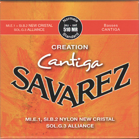 Savarez 510 MR Alliance/New Cristal Cantiga Konzertgitarre, medium tension