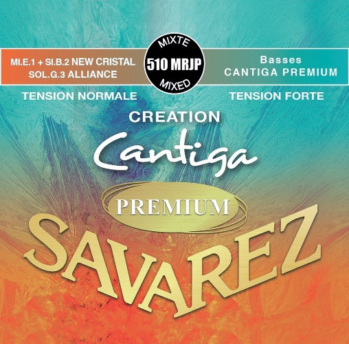 Savarez 510 MRJP Alliance/New Cristal Cantiga Konzertgitarre, medium/high tension