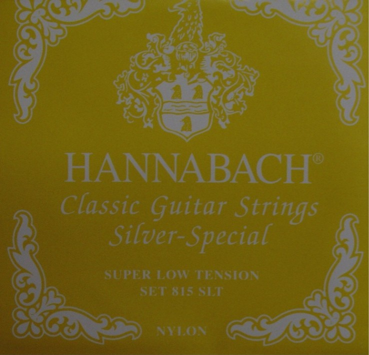 Hannabach 815 gelb 'silver special' Konzertgitarre, super low tension