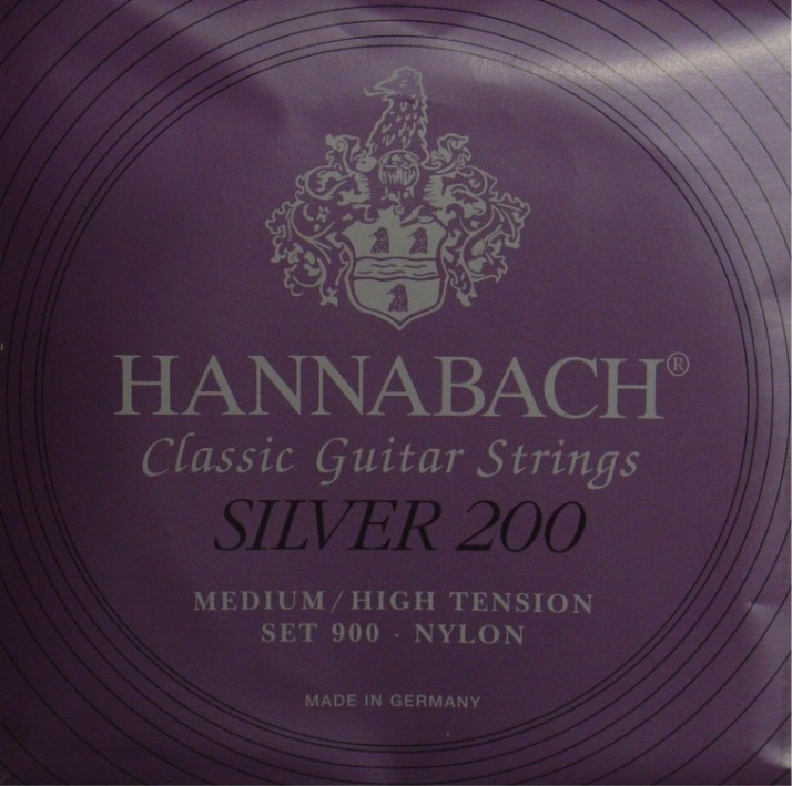 Hannabach 900 - Silver 200 Konzertgitarre, medium/high tension