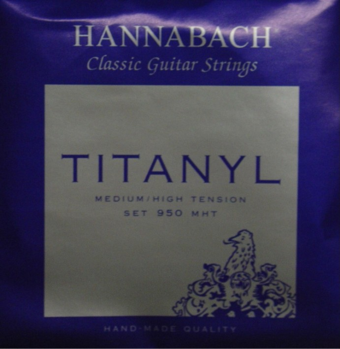 Hannabach 950 Titanyl *NEU* Konzertgitarre, medium/high tension