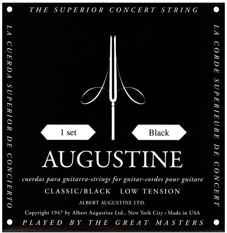 Augustine black Konzertgitarre, low tension