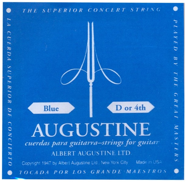 Augustine blue - d4 Konzertgitarre, high