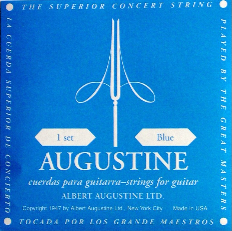 Augustine blue Konzertgitarre, high tension