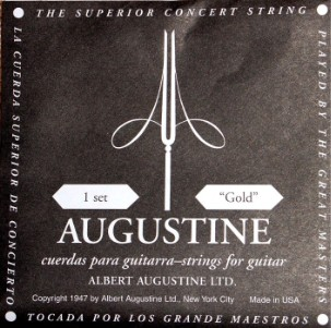 Augustine gold Konzertgitarre, low tension