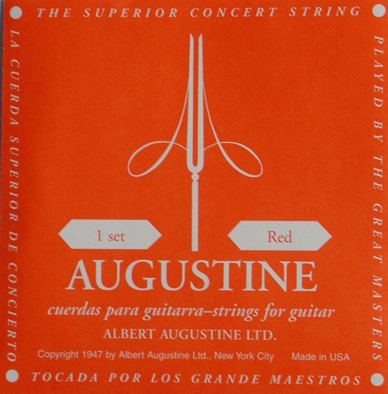 Augustine red Konzertgitarre, medium tension