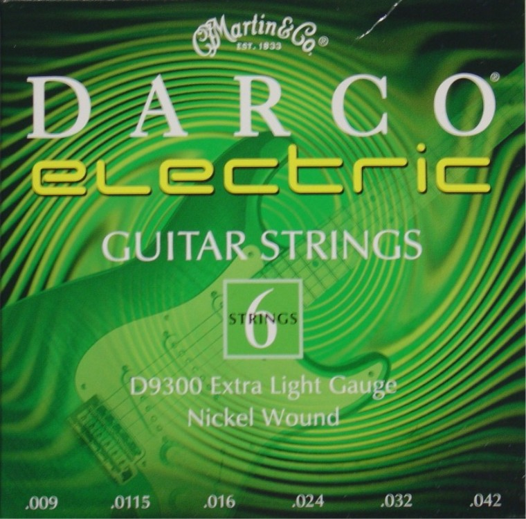 Darco by Martin D9300 E-Gitarre, extra light (009 - 042)