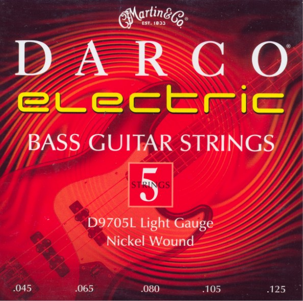 Darco by Martin D9705L - 5-string E-Bass, light (045-125)