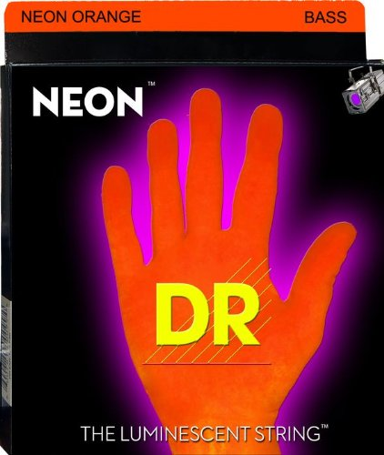 DR NEON NOB-45 - HiDef orange E-Bass, medium (045-105), orange Saiten