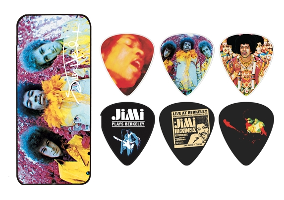 Dunlop Jimi Hendrix Collector Picks - 12 Stück Are you experienced - medium - PTR01M