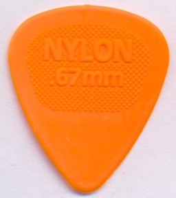 Dunlop Nylon Midi 443 0,67 mm - orange