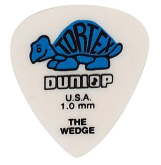 Dunlop Tortex Wedge Players 424 1,00 mm - blau