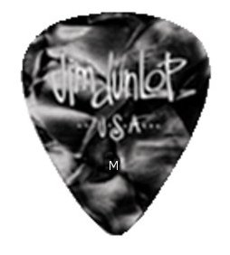 Dunlop classic Celluloid schwarz pearloid - medium