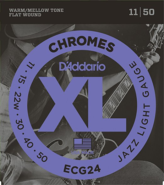 D´Addario Chromes ECG24 E-Gitarre, Jazz-light (011 - 050)