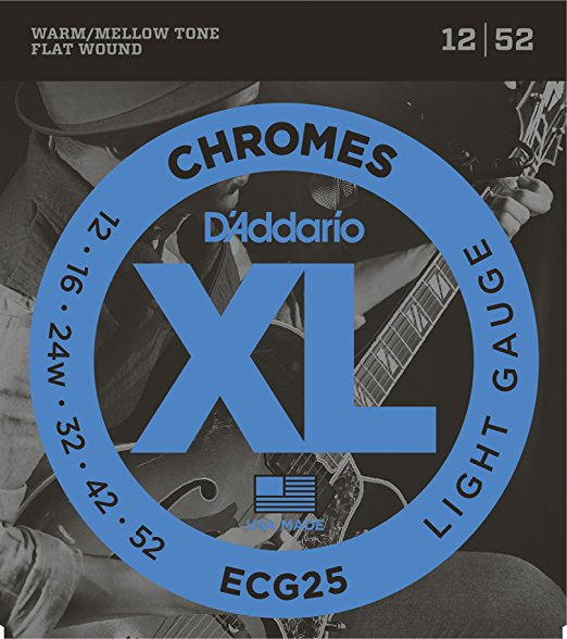 D´Addario Chromes ECG25 E-Gitarre, light (012 - 052)
