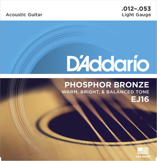 D´Addario Phosphor Bronze EJ16 Westerngitarre, light (012 - 053)