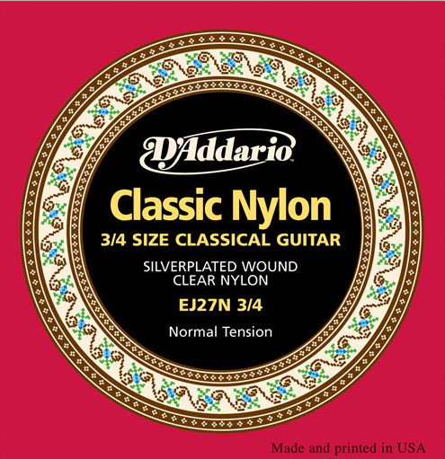 D´Addario EJ27N-3/4 3/4-Gitarre, normal tension
