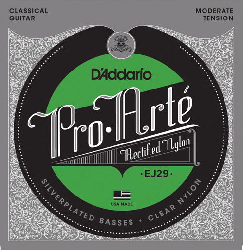 D´Addario EJ29 rectified Nylon Konzertgitarre, moderate tension