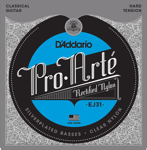 D´Addario EJ31 rectified Nylon Konzertgitarre, hard tension