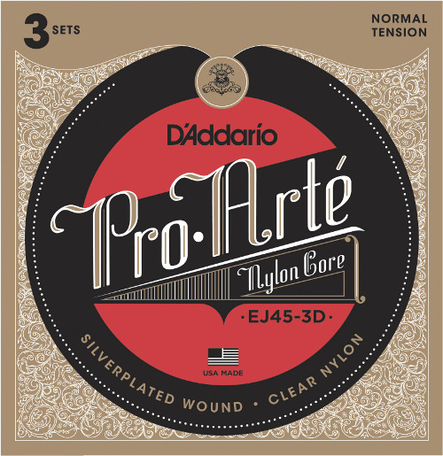 D´Addario EJ45-3D 3 Sätze - Konzertgitarre - normal tension