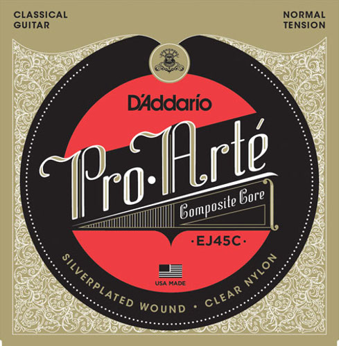 D´Addario EJ45C Composite Konzertgitarre, normal tension