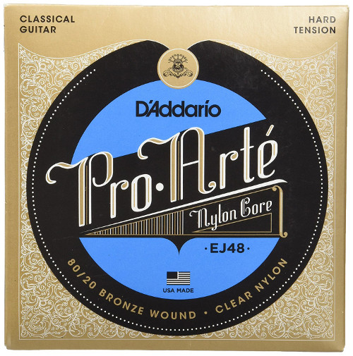 D´Addario EJ48 Gold Konzertgitarre, hard tension