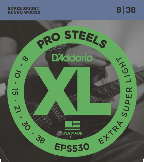 D´Addario EPS530 E-Gitarre, extra-super light (008-038)