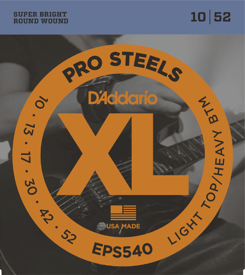 D´Addario EPS540 E-Gitarre, light/heavy (010-052)