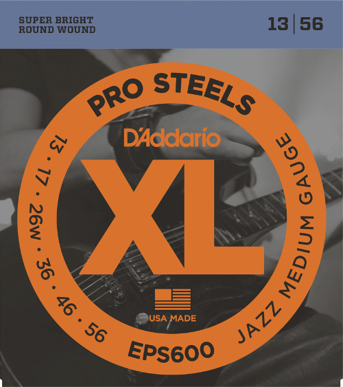 D´Addario EPS600 E-Gitarre, Jazz medium (013-056)