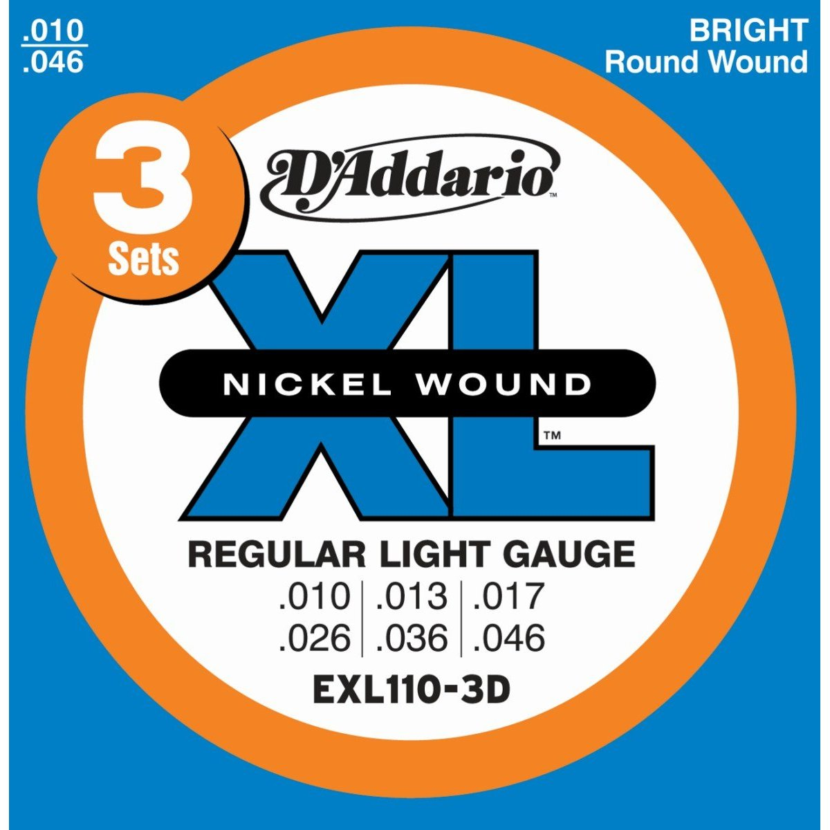 D´Addario EXL110 E-Gitarre, regular light (010 - 046)