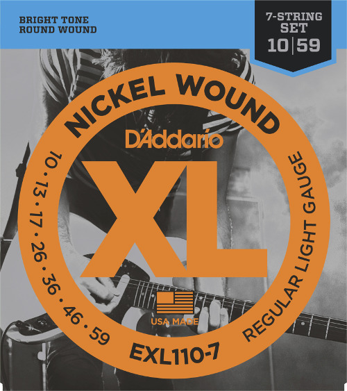 D´Addario EXL110-7 E-Gitarre, 7-string, regular light (010 - 059)