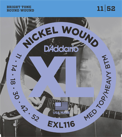 D´Addario EXL116 E-Gitarre, medium/heavy (011 - 052)