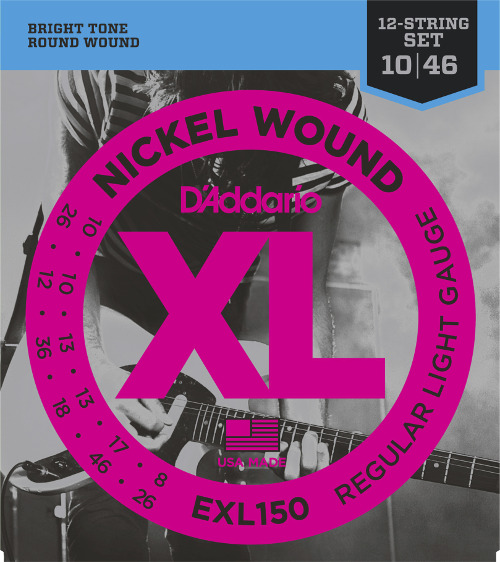 D´Addario EXL150 E-Gitarre 12-string, regular light (010 - 046)