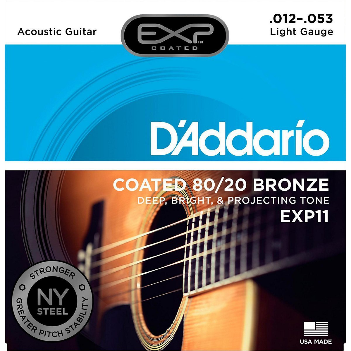 D´Addario EXP11 Bronze Westerngitarre, light (012 - 053)