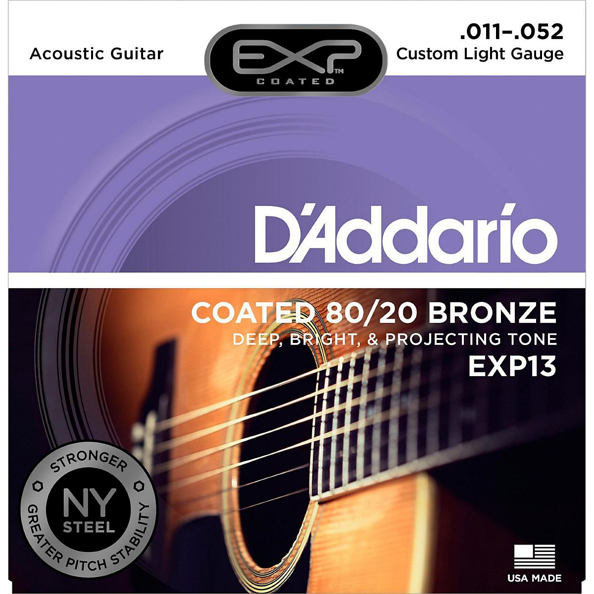 D´Addario EXP13 Bronze Westerngitarre, custom light (011 - 052)
