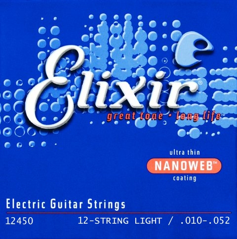 Elixir 12450 Nanoweb E-Gitarre 12-string, light (010 - 052)