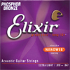 Elixir 16052 Phosphor Bronze Nanoweb Westerngitarre, light (012-053)