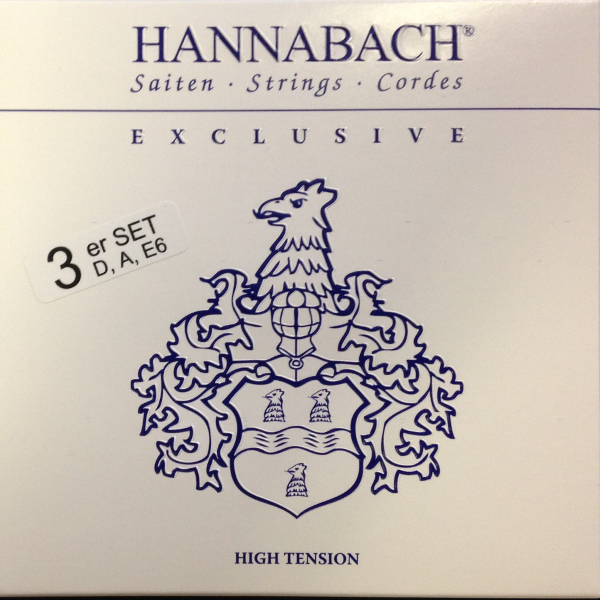 Hannabach Exclusive HT - Bass-Satz Konzertgitarre, high tension