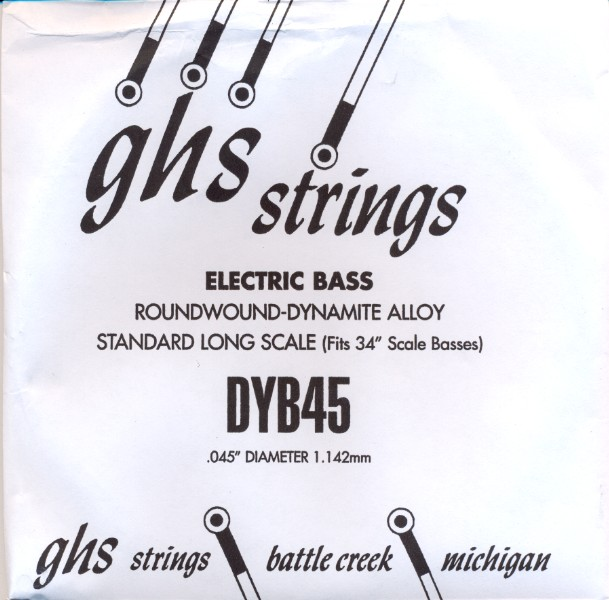 GHS DYB45 - Dynamite Alloy E-Bass - long scale - 045