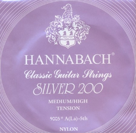 Hannabach 9005 - Silver 200 - A5 Konzertgitarre - medium/high