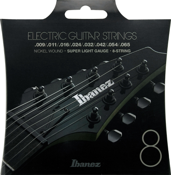 Ibanez IEGS8 Nickel wound E-Gitarre 8-string, super light (009-065)