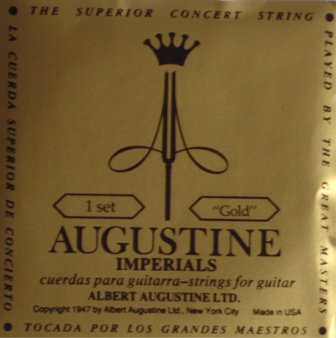 Augustine Imperial + gold Bass Konzertgitarre, low tension