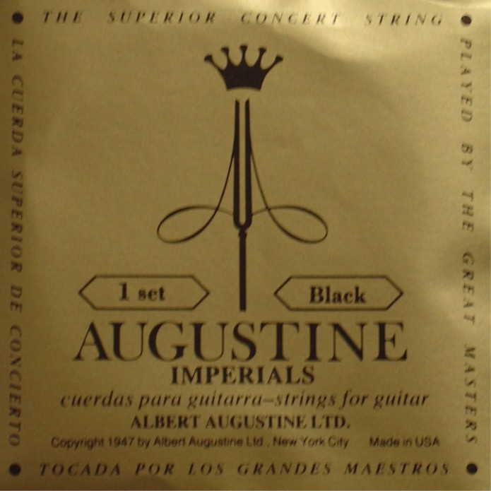 Augustine Imperial + black Bass Konzertgitarre, low tension