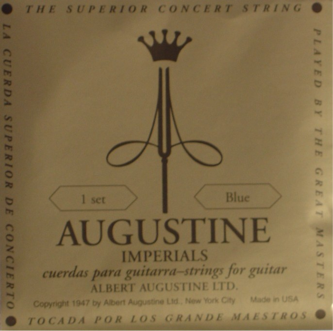 Augustine Imperial + blue Bass Konzertgitarre, high tension