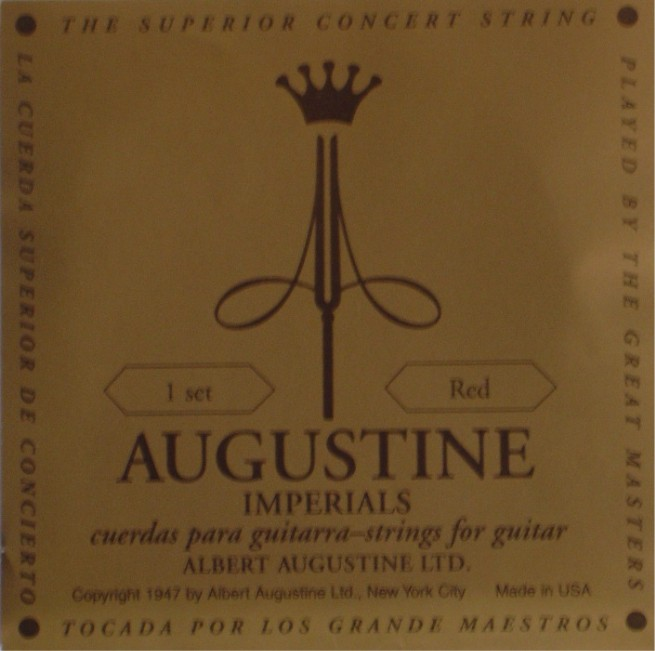 Augustine Imperial + red Bass Konzertgitarre, medium tension
