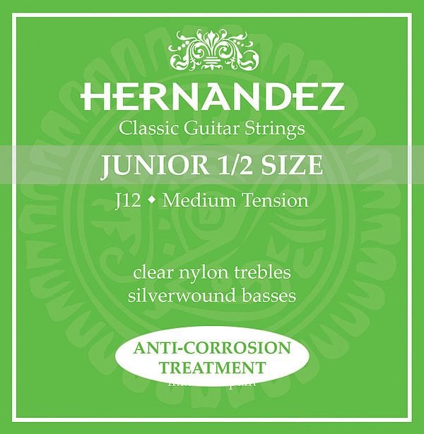 Hernandez J12 1/2-Gitarre, medium tension