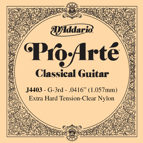 D´Addario J4403 - g3 Konzertgitarre, extra hard tension